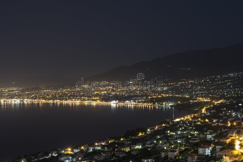 Kalamata Greece By Night stock photography