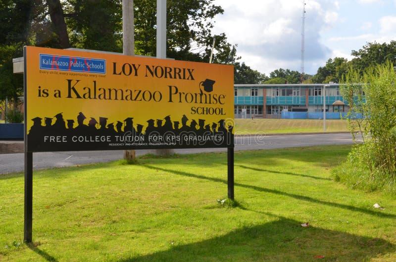 Kalamazoo诺言学校 免版税库存照片