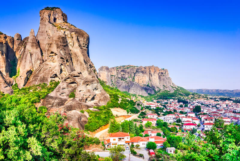 Kalambaka, Grecia fotografía de archivo libre de regalías