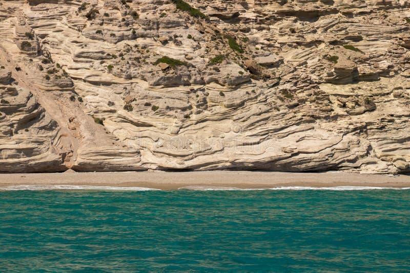 Kalamos strandstrand på Milos arkivfoto