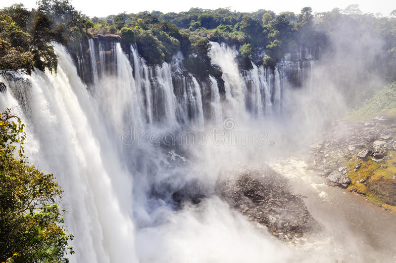 Kalandula Falls royalty free stock image