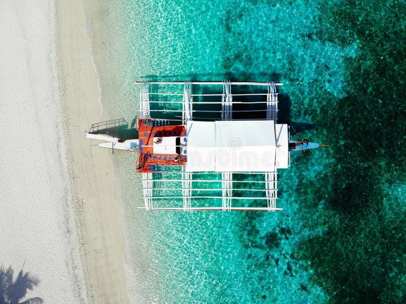 Kalanggaman ö från ovanför - Filippinerna royaltyfri foto
