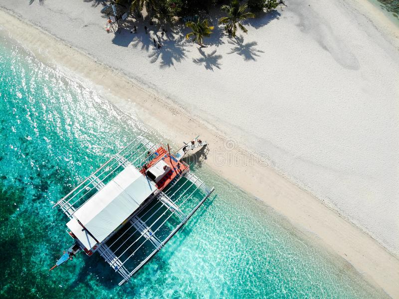 Kalanggaman Island from Above - The Philippines royalty free stock photography