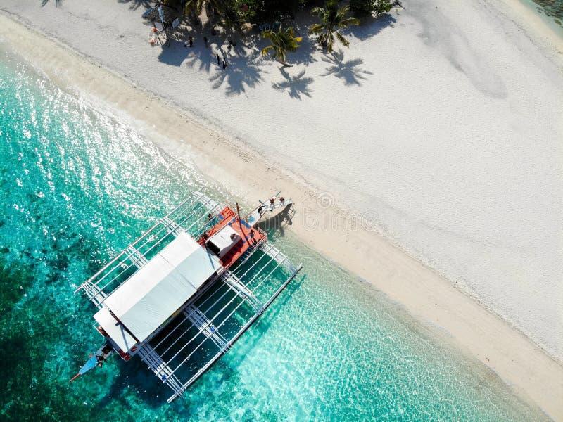 Kalanggaman wyspa z góry - Filipiny fotografia royalty free