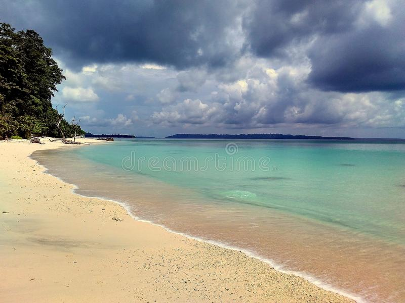 Kalapatthar Overzees Strand, havelock eiland royalty-vrije stock afbeelding