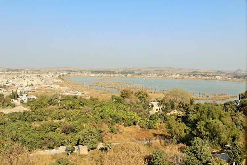 kalar kahar湖美丽的景色在旁遮普邦 库存照片