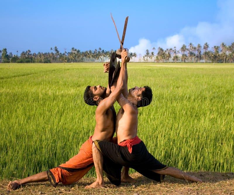 Kalari, ινδική πολεμική τέχνη στοκ φωτογραφίες