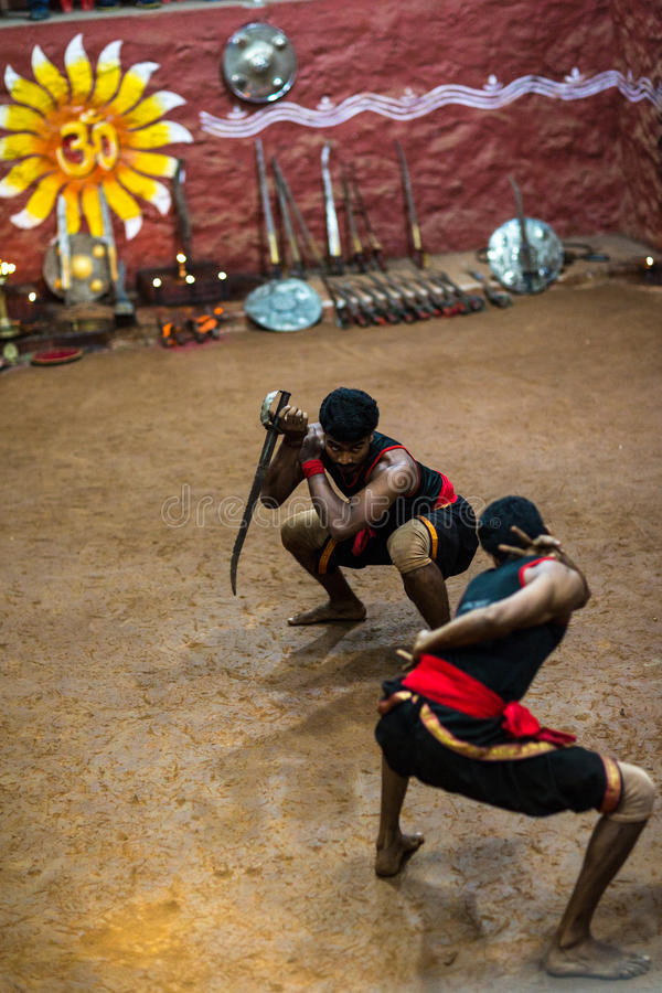 Kalaripayattu show royalty free stock photo