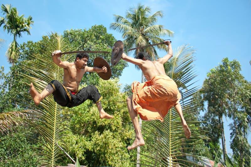 Kalarippayat, ινδική αρχαία πολεμική τέχνη του Κεράλα στοκ εικόνες με δικαίωμα ελεύθερης χρήσης