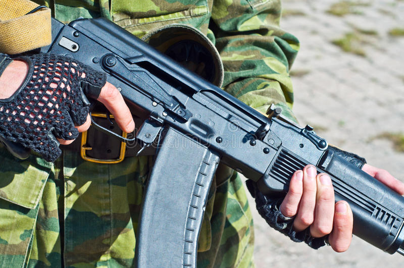 Kalashnikov ak-101 machinegeweer stock foto's