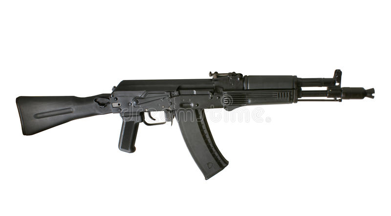 Kalashnikov AK-105 machine gun royalty free stock photography
