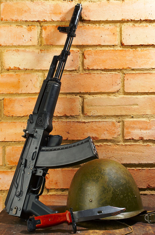 Download Kalashnikov automatic stock image. Image of miry, iran - 1276209