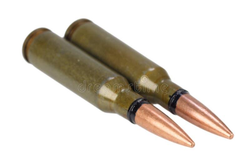 Kalashnikov 5.45 mm cartridge royalty free stock photos