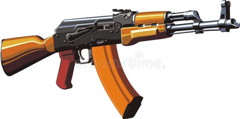 Kalashnikovanfallgevär stock illustrationer