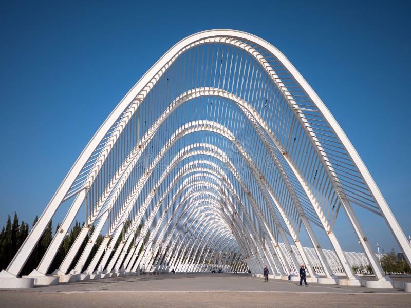 Kalatrava-` s Bau im Olympiastadion in Athen lizenzfreie stockbilder