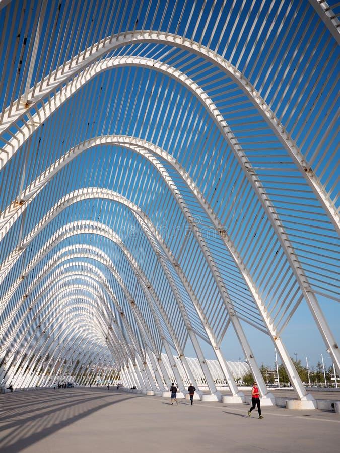 Kalatrava-` s Bau im Olympiastadion in Athen stockfoto