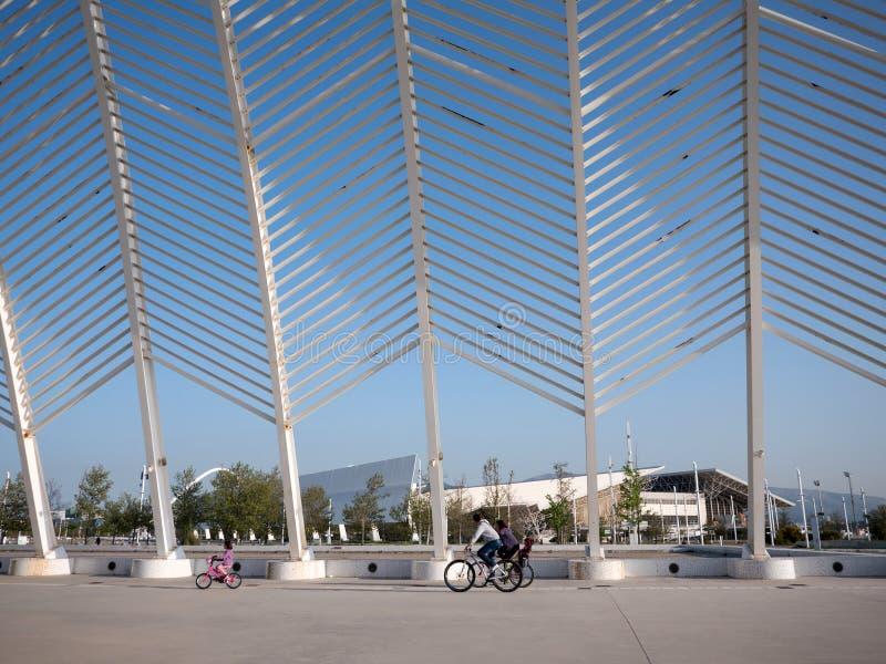Kalatrava-` s Bau im Olympiastadion in Athen stockfotografie