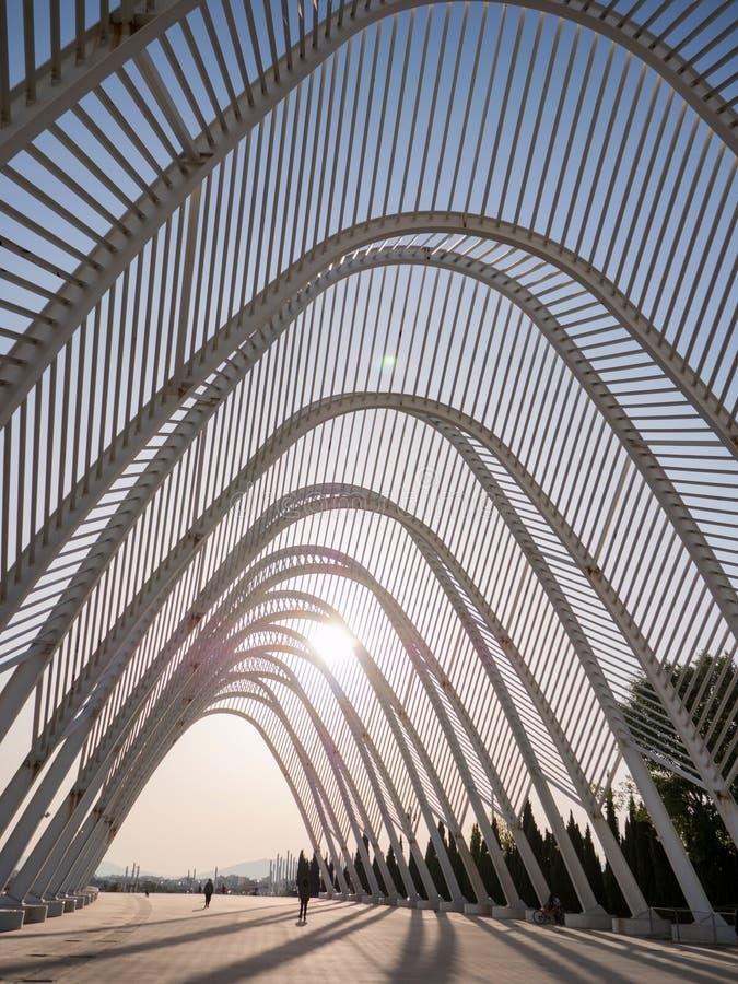 Kalatrava-` s Bau im Olympiastadion in Athen lizenzfreie stockfotos