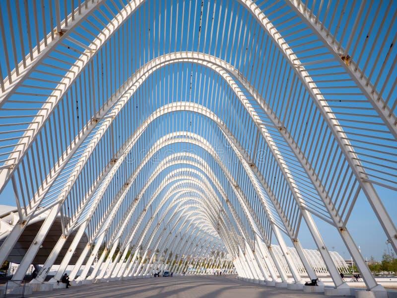 Kalatrava-` s Bau im Olympiastadion in Athen stockfotos