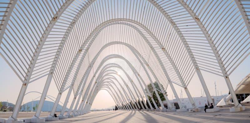Kalatrava-` s Bau im Olympiastadion in Athen stockbild