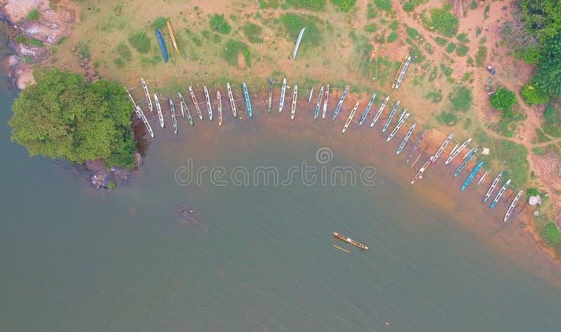 Kalawewa湖在斯里兰卡 库存图片