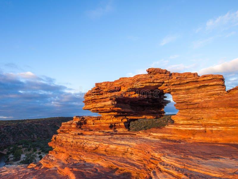 Kalbarri国家公园-自然窗口澳大利亚 图库摄影