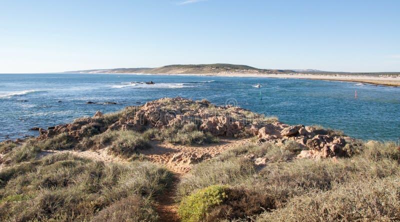 Kalbarri, Austrália Ocidental: Boca de rio de Murchison fotografia de stock royalty free