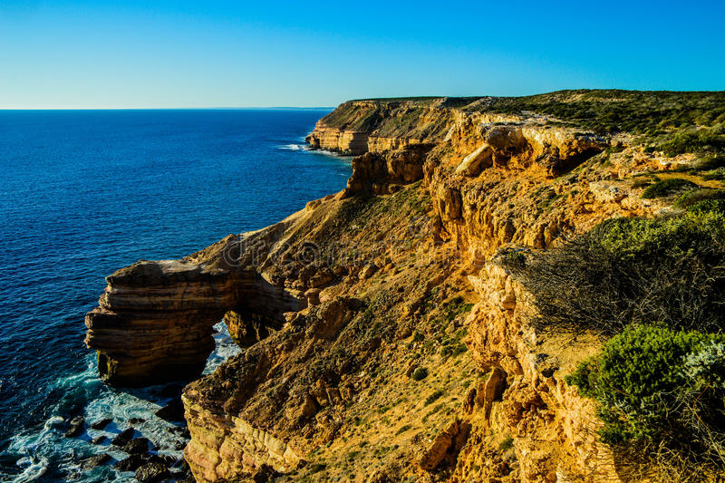 Kalbarri Cliffline photographie stock libre de droits