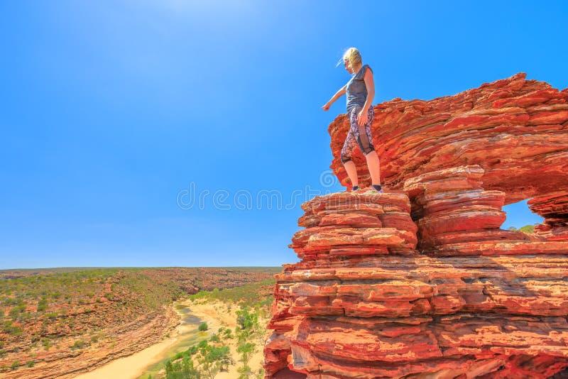 Kalbarri-Frauenhinterland lizenzfreies stockbild