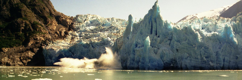 Kalben-Gletscher lizenzfreies stockfoto