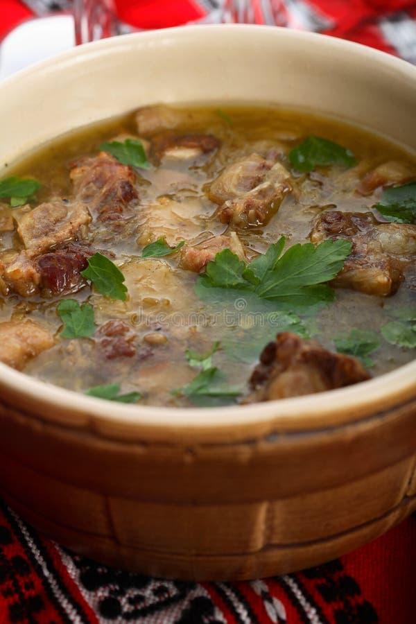 Kalbfleisch mit Sauerkraut lizenzfreie stockfotos