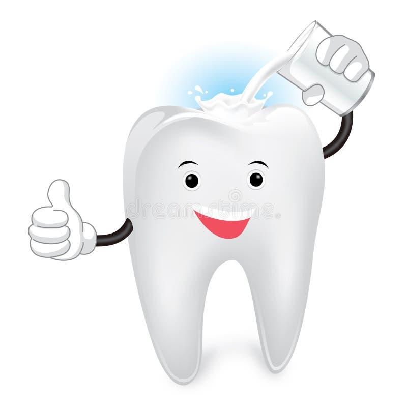 Kalcier för tand stock illustrationer