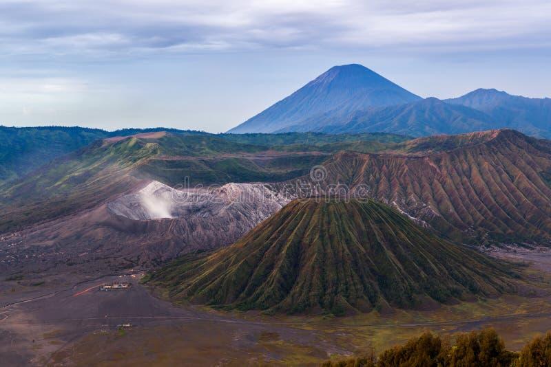 Kaldera Tengger, Bromo, Batok i Semeru, obrazy royalty free