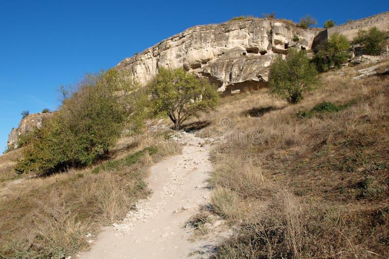 kale för grottachufutstad arkivfoto