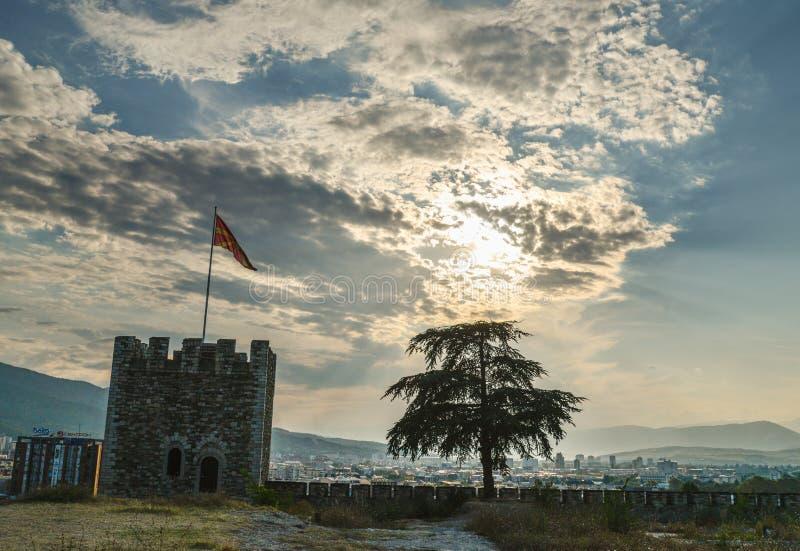 Kale Forteczni ramparts, Skope, Północny Macedonia obraz royalty free