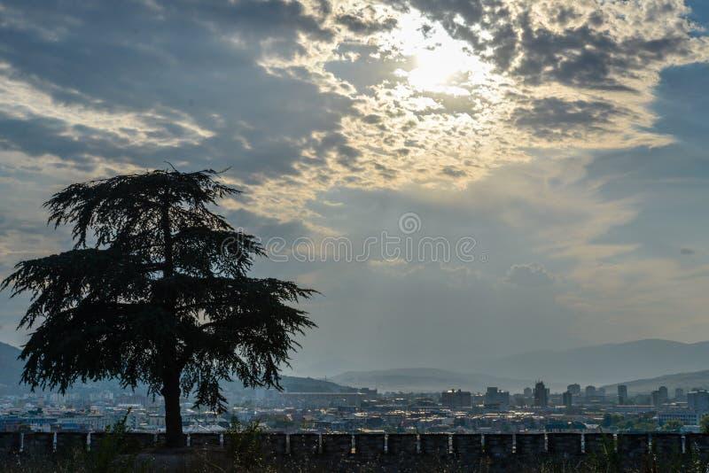 Kale Forteczni ramparts, Skope, Północny Macedonia zdjęcie stock