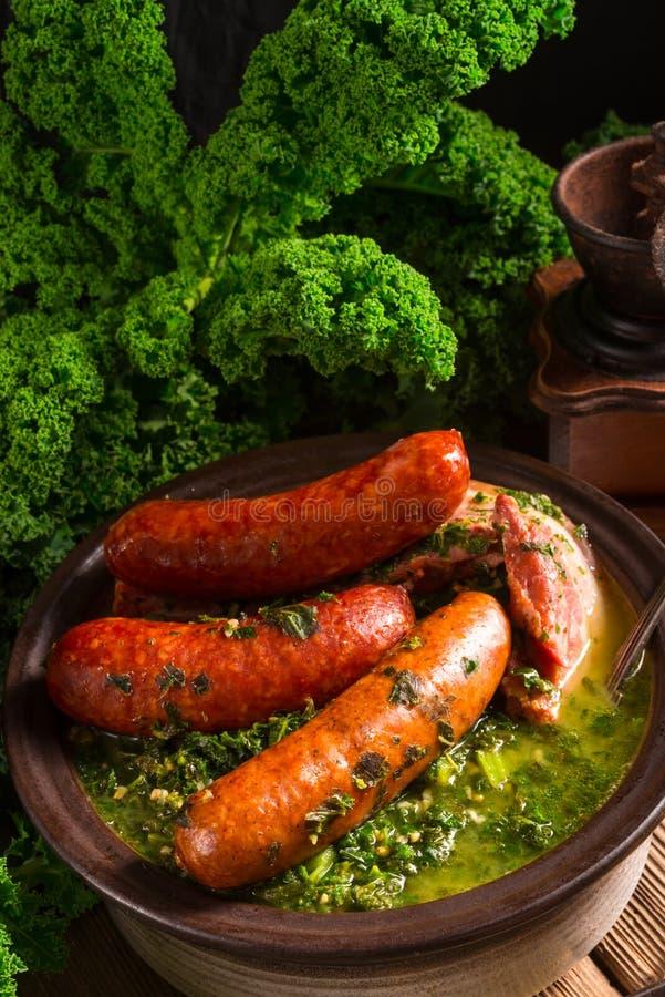 Kale ou couve galega fotos de stock