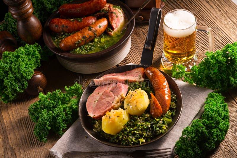 Kale ou couve galega imagens de stock royalty free