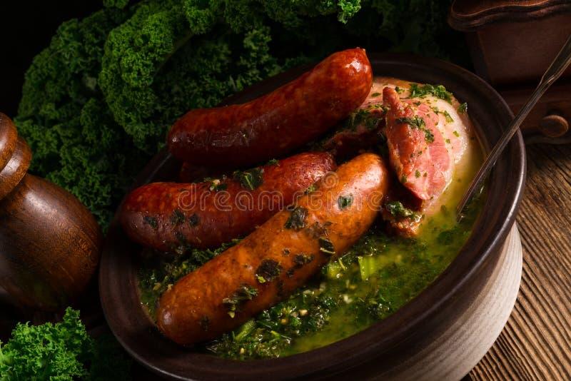 Kale ou couve galega imagens de stock