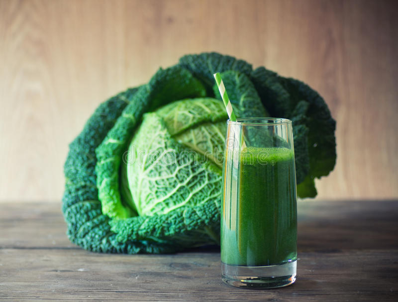 Kale smoothie stock photography