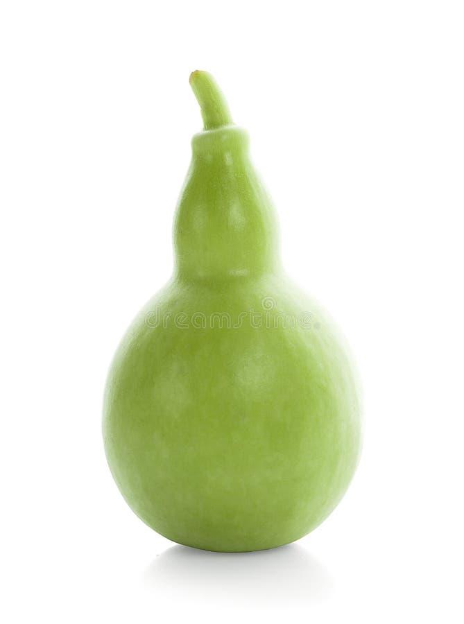 Kalebasse, Flaschenkürbisfrucht lokalisiert auf weißem Hintergrund lizenzfreie stockbilder