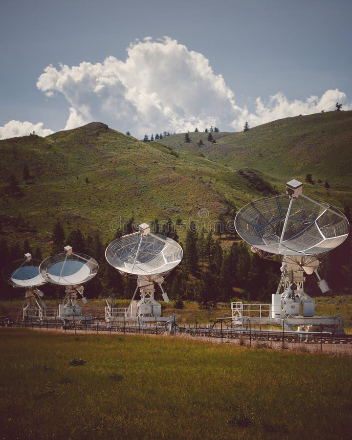 Kaleden, BC, Canada - Heerschappij Radio Astrofysisch Waarnemingscentrum royalty-vrije stock afbeeldingen