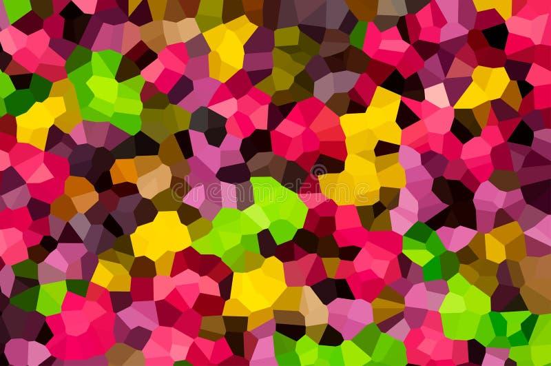 Kaleidos volumétricos do efeito do teste padrão ajustado poliédrico abstrato volumétrico do marrom amarelo do verde dos triângulo ilustração royalty free