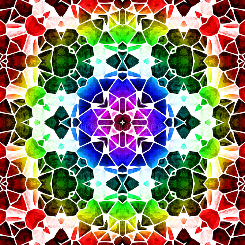 Kaleidoscop vektor illustrationer
