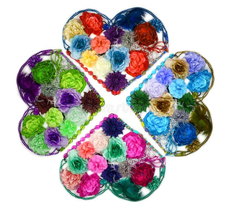 kaleidoscope сердец цветка конструкции barrettes стоковое фото rf