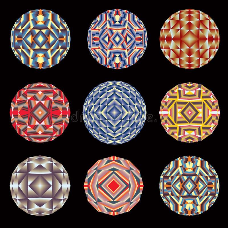 Kaleidoscope color circles