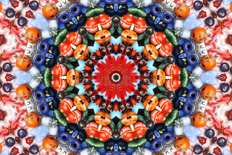 Kaleidoscope of color and pattern stock photography