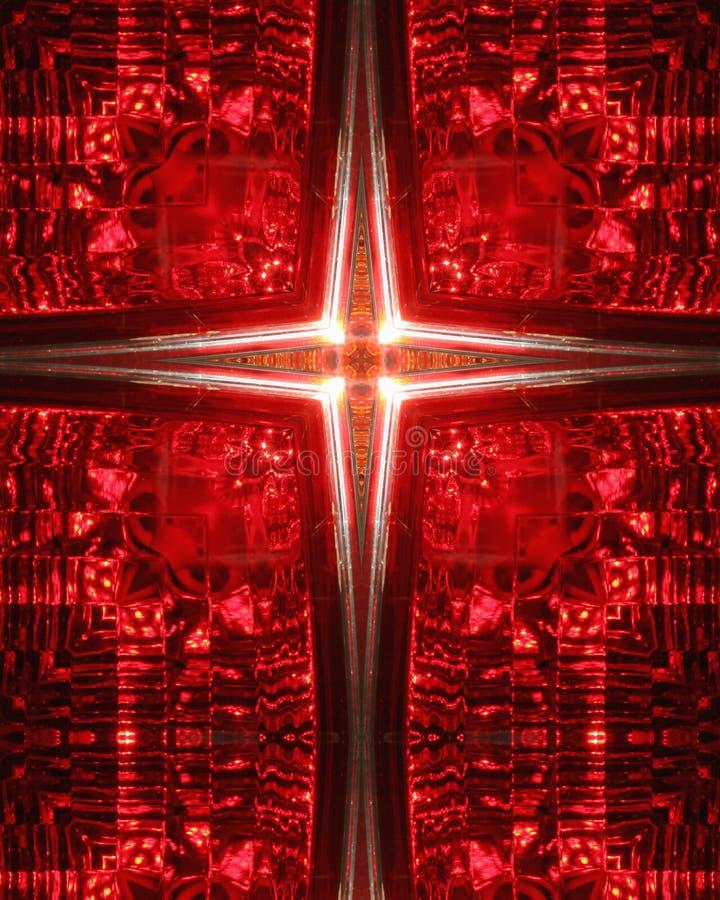 Kaleidoscope Cross: car taillight royalty free stock photo