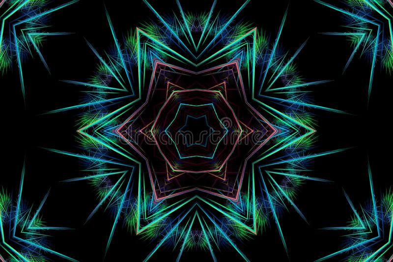 kaleidoscope design 16 stock photography