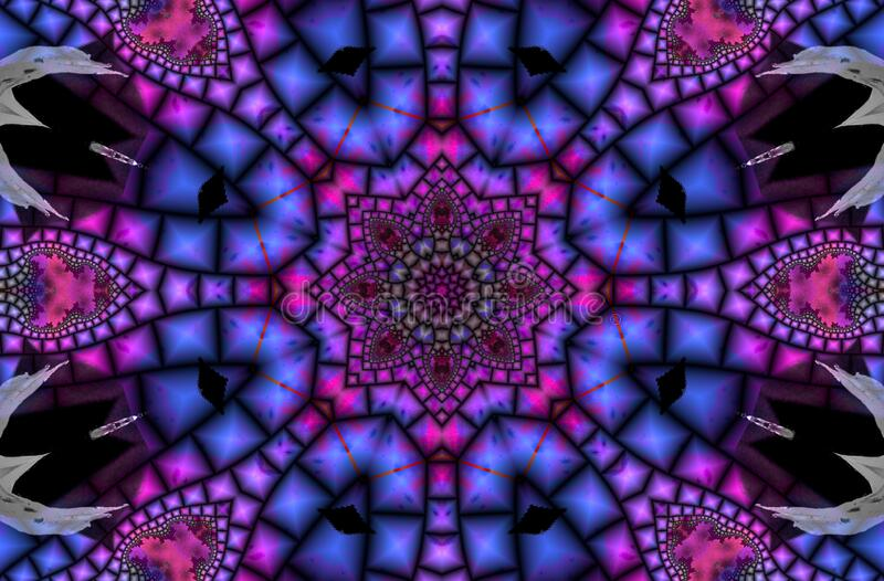 kaleidoscope design 34 stock image